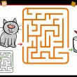 Cartoon maze or labyrinth game — Stock Vector #69839451