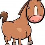 Little horse or foal cartoon — Stock Vector #70530037