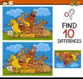 Нахождение мультфильма игры различий — Cтоковый вектор