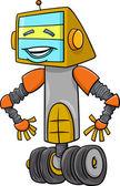 Robot character cartoon illustration — Stock Vector