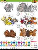 Математические игры мультфильм Иллюстрация — Cтоковый вектор