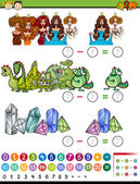 Educational game cartoon illustration — Stock Vector