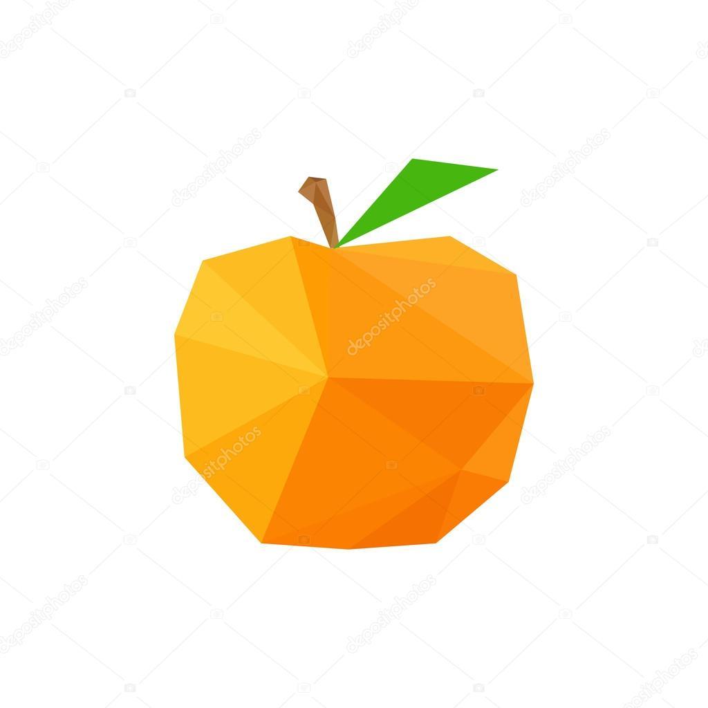 Origami peach — Stock Vector © dragoana23 #51809507 - photo#45