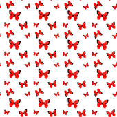 Red origami butterfly pattern — Wektor stockowy