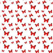 красный образец бабочки оригами — Cтоковый вектор