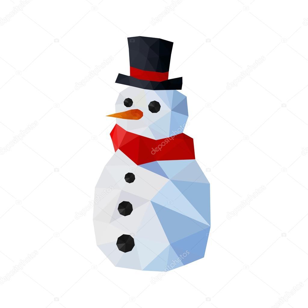 Funny origami snowman with scarf — 스톡 벡터 © dragoana23 ... - photo#15