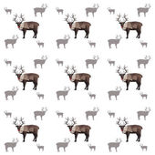 Seamless origami reindeer pattern — Stock Vector
