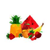 Coleta de frutos de origami — Vetor de Stock