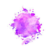 Watercolor purple splash — Stock Vector