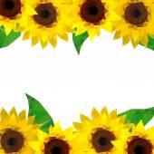 Origami sunflower background — Stock Vector