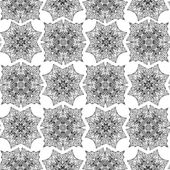 Seamless pattern with monochrome floral — Stock Vector