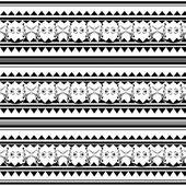 Black polynesian tattoo — Stock Vector