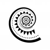 Maori style spiral tattoo — Stock Vector