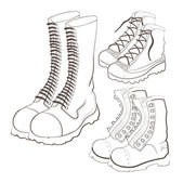 Hand drawn doodle boots — Stock Vector