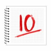 Doodle 10 anniversary chalk mark — Stock Vector