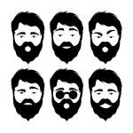 ������, ������: Emoticons with beard man
