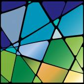 Abstract stained glass window — Stock Vector