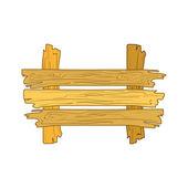 Doodle wooden plank — Stock Vector