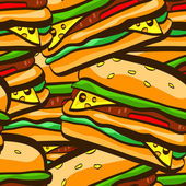 Seamless pattern with burgers — Stock Vector