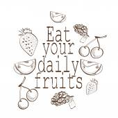 Eat your daiy fruits — Stock Vector