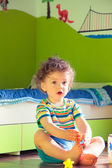 Baby boy playing in his room — Stock Photo
