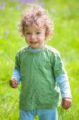 Portrait of toddler boy outdoor — Stock Photo