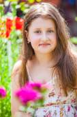 Portrait of 10 year old girl — Stock Photo
