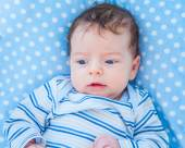 2 months old baby boy at home — Stock Photo