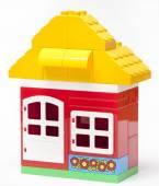 The house construction by lego blocks — Stock Photo