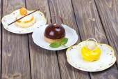 Lemons delicious chocolate cake — Stock Photo