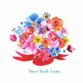 Ramo de flores — Vector de stock