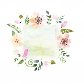 Frame of painted watercolor — Stock Vector