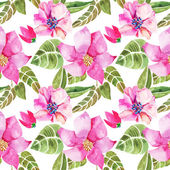 Nahtlose Blumenmuster. — Stockvektor