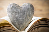 Red heart of the book. Greeting cards. — Stock Photo