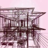3 d の新しい近代的なアーキテクチャ — ストック写真