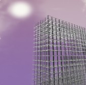 3d new modern architecture — Stock Photo