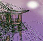 3d 新现代建筑 — 图库照片