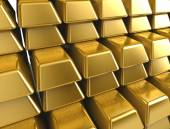 Stacks of gold bars — Stock Photo