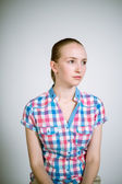 Real young woman — Stock Photo
