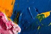 Pintura de fundo de obras de arte abstrata — Fotografia Stock