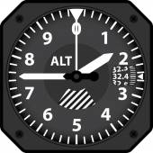 Aircraft altimeter — Stock Vector