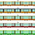 Modern tram — Stock Vector #55829009