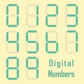 Digital numbers — Stock Vector