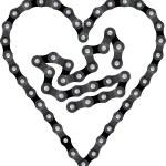 Bike chain — Stock Vector #65814821