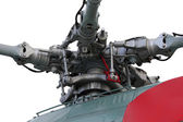 Helicopter engine transmission close up — Stock Photo