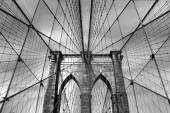 Brooklyn Bridge 043bw — Stok fotoğraf