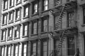 NYC apartment building 21bw — Stock Photo