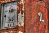 Vintage gas pump 132 — Fotografia Stock