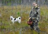 Jonge vrouw cranberry te halen op een moeras. — Stockfoto