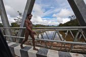 Naked Papuan man — Stock Photo